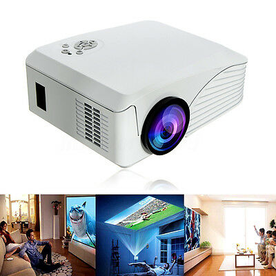 Portable 7000 Lumens HD 1080P Multimedia Projector LED Home Theater HDMI USB