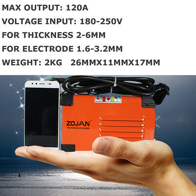 120a 180-250v Compact Mini Mma Welder Inverter Arc Welding Machine Express Ship