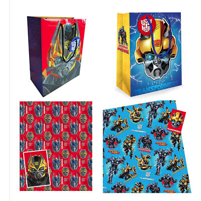 wrapping paper and gift bags