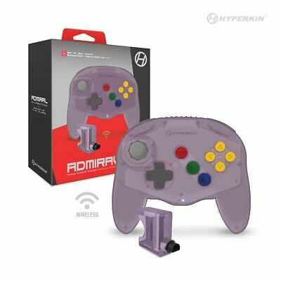 "Hyperkin ""Admiral"" Premium Bluetooth Wireless Controller for N64 - Atomic Purple"