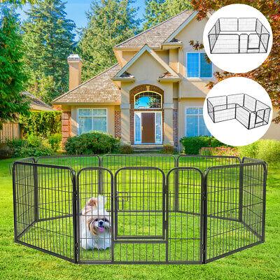Pet Fence Dog Playpen Exercise Folding Cage Kennel w/Door 8 Panel Indoor Outdoor