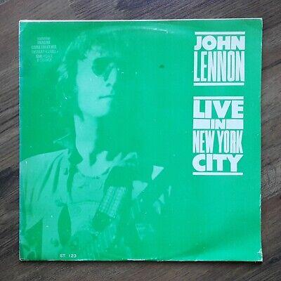 Beatles John Lennon - Live in New York ~ unique korea vinyl lp Green Cover EX-