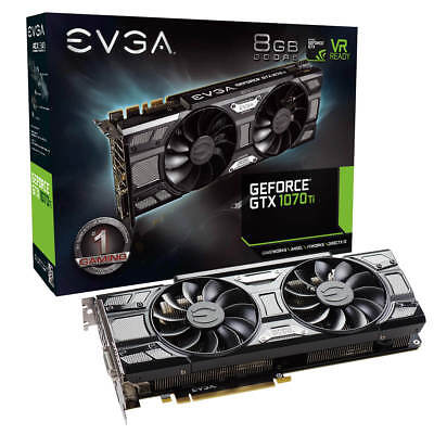EVGA GeForce GTX 1070 Ti SC GAMING, 8GB GDDR5, & Black Edition, 08G-P4-5671-KR