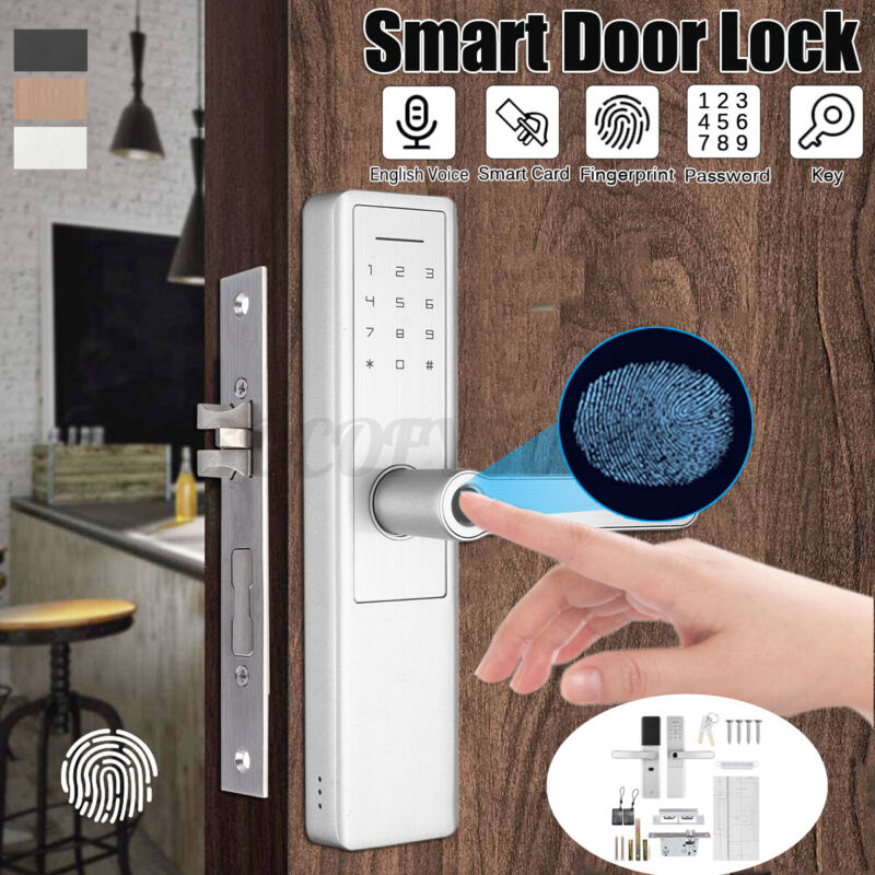 Smart Keyless Door Lock Security Electronic Password Keypad Card Fingerprint USA