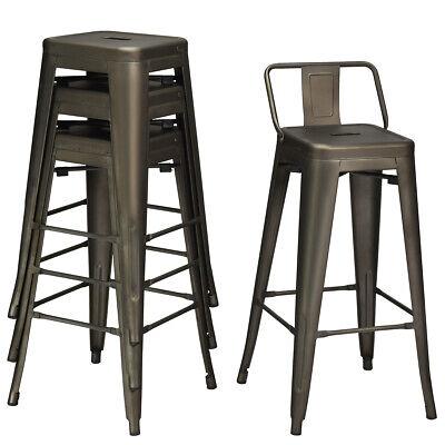 """4 PCs Low Back Metal Counter Stool 30"""" Seat Height Bar Stool"""