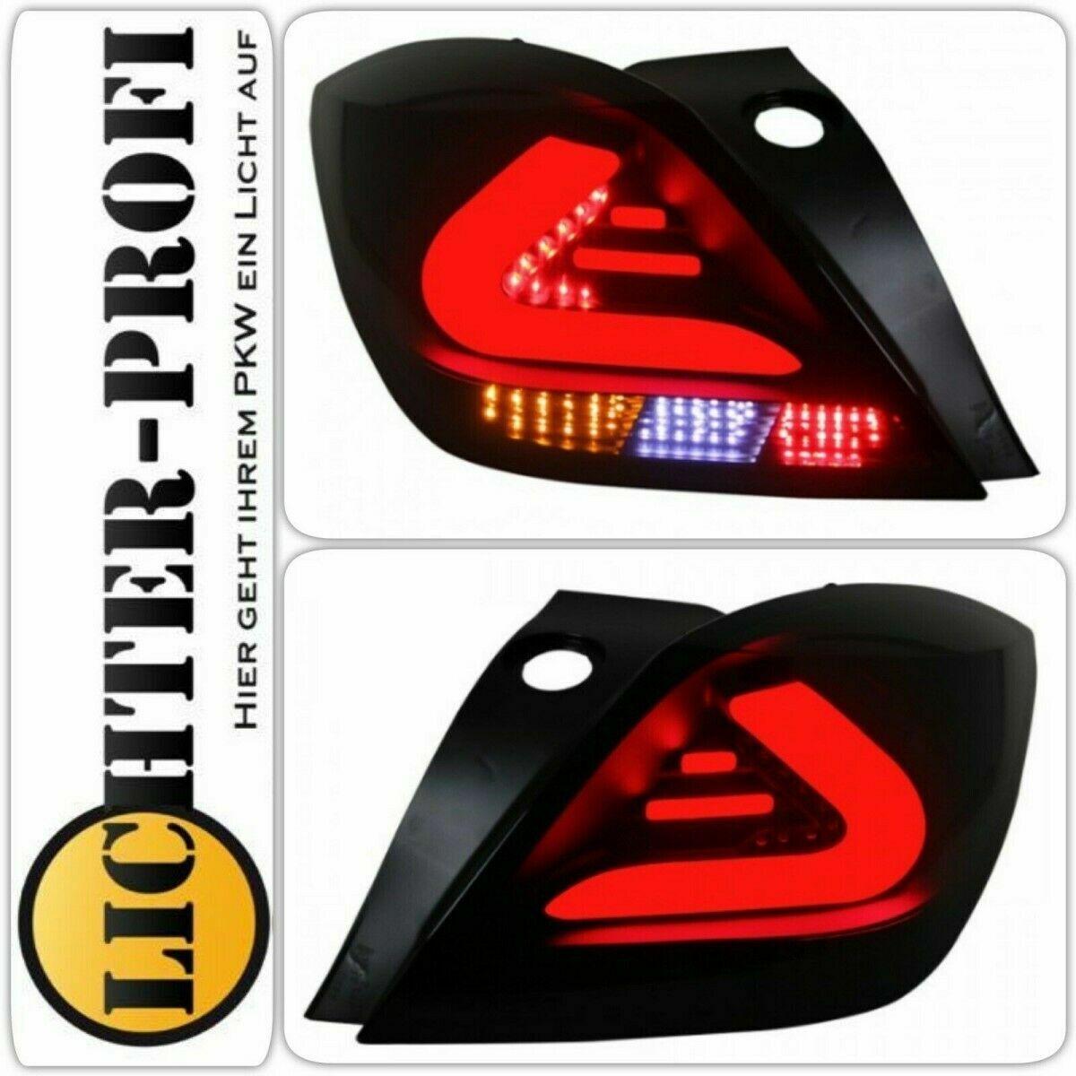 Voll Led Lightbar Rückleuchten Set schwarz für Opel Astra H GTC 3-Türer BJ 05-10