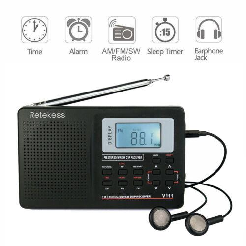 Portable FM/MW/SW Radio Receiver Stereo DSP Band Digital