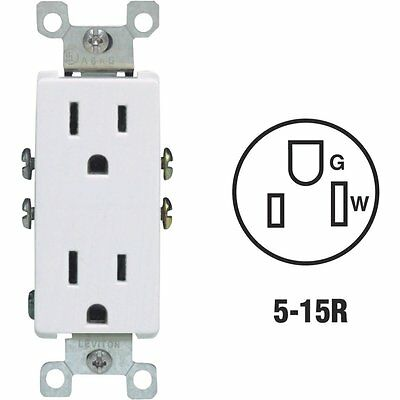 White Duplex Outlet S02-05325-OWS
