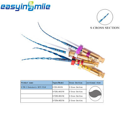 1pack Easyinsmile Dental Endo Root Canal Niti Rotary X-two Files S Cross Section