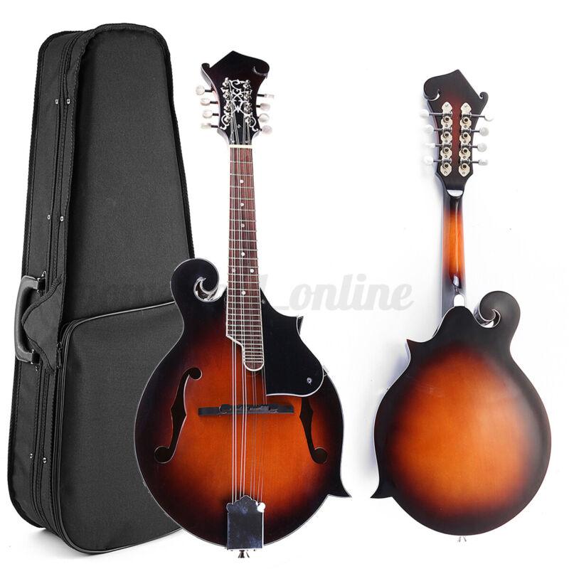 Classic Sunburst F-Style Sound Hole Mandolin Paulownia Wood 24 Frets 8 String