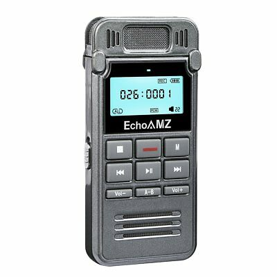 Digital Voice Recorder 8GB Voice Activated, Double Microphone, Metal Casing