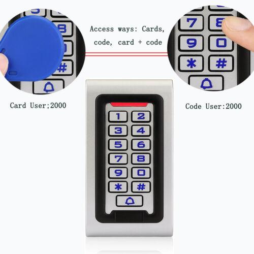 IP68 SIB Waterproof Metal Case Silicon Keypad RFID125Khz EM Card Access control