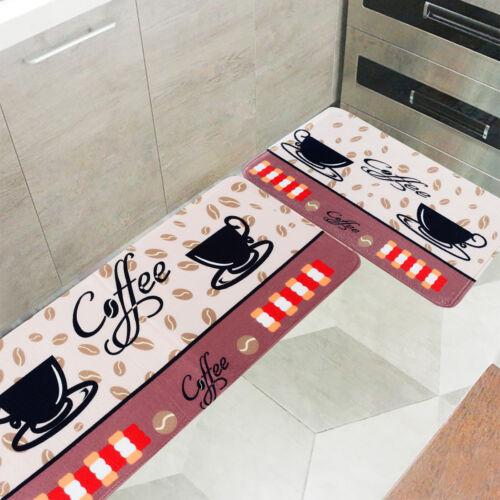 2Pcs Set Kitchen Floor Mat Carpet Anti-Slip Area Rug Door Ma