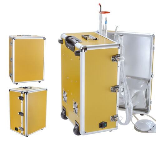 Portable Dental Unit With Air Compressor+Woodpeck Scaler+Curing Light+Handpiece