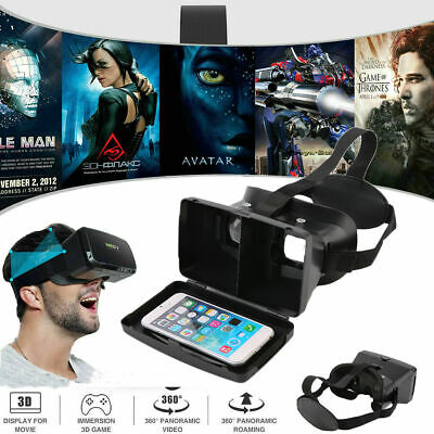 Virtual Reality VR Video Headset 3D Glasses W/ Remote for Android IOS iPhone USA