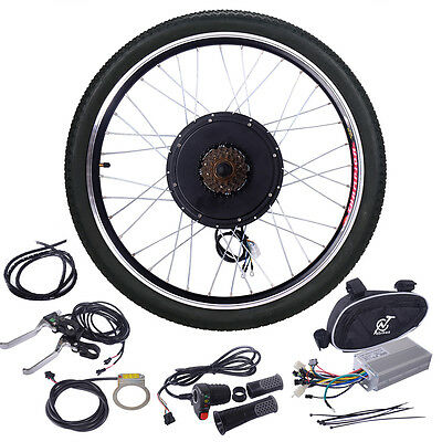 "48V 1000W Electric Bicycle Cycle E Bike  26""Conversion Kit Hub Motor Rear Wheel"