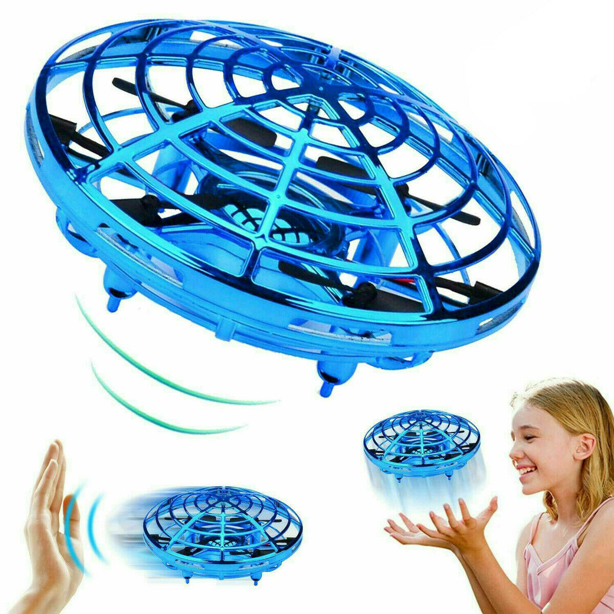 Mini Drone Motion Sensor RC Induction Flying Ball Quadcopter