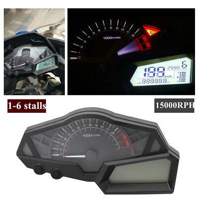 LCD DIGITAL ODOMETER SPEEDOMETER TACHOMETER MOTORCYCLE UNIVERSAL 15000