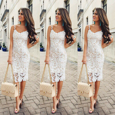 Women One Piece Sleeveless Lace Skirt Romper Bodycon Slim Pencil Dress (Skirt One Piece Dress)
