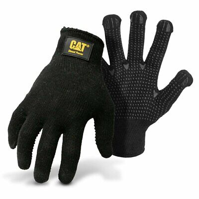 Cat Diesel Power String Knit Polycotton Dotted Palm Size L Work Gloves