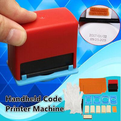 Mini Manual Handheld Code Printer Tool Coding Number Date Printing Machine Kits
