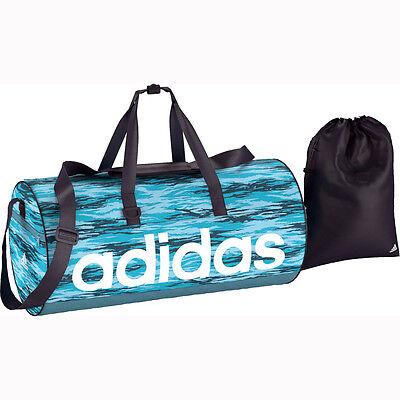 adidas Linear Performance Teambag M + Schuhbeutel ice blue Tasche Sporttasche