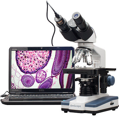 40X-2000X LED Digital Binocular Compound Microscope with 3D Stage + USB Imager on Rummage