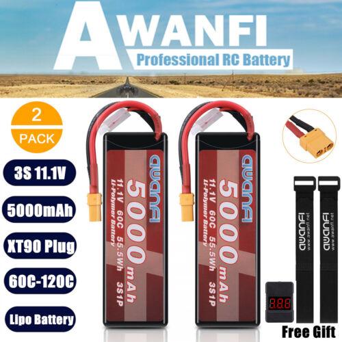 2x 11 1v 3s 5000mah lipo battery