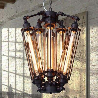 Industrial Metal Steampunk Pendant Hanging Lamp Light Chandelier Edison Bulb  (Hanging Light Bulbs)