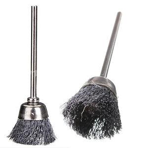 1 5 10pc acier brosse m tallique pour outil rotatif meuleuse broyeur 1 8 - Brosse metallique meuleuse ...