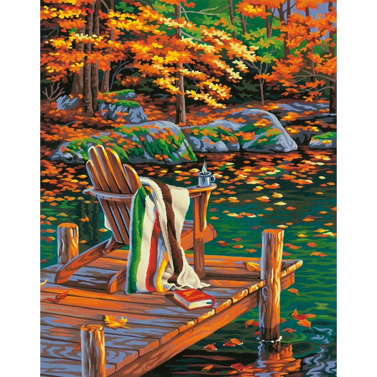 Dimensions Golden Pond Paint by Numbers for Adults, 11'' W x