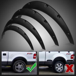 4pcs Universal Fender Flares Flexible Durable Polyurethane Auto Car Body Kit