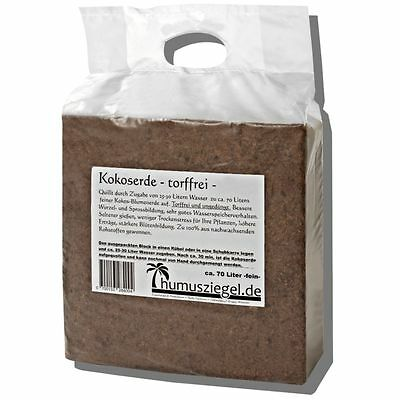 Kokoserde 70 Liter - gepresste Aussaaterde / Anzuchterde für Kräuter & Gemüse