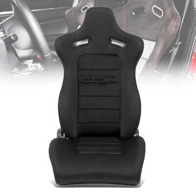 - X1 BLACK TYPE-XL10 JDM STYLE RACING SEATS+SLIDER ADJUSTER SLIDEWAY RAILS RIGHT