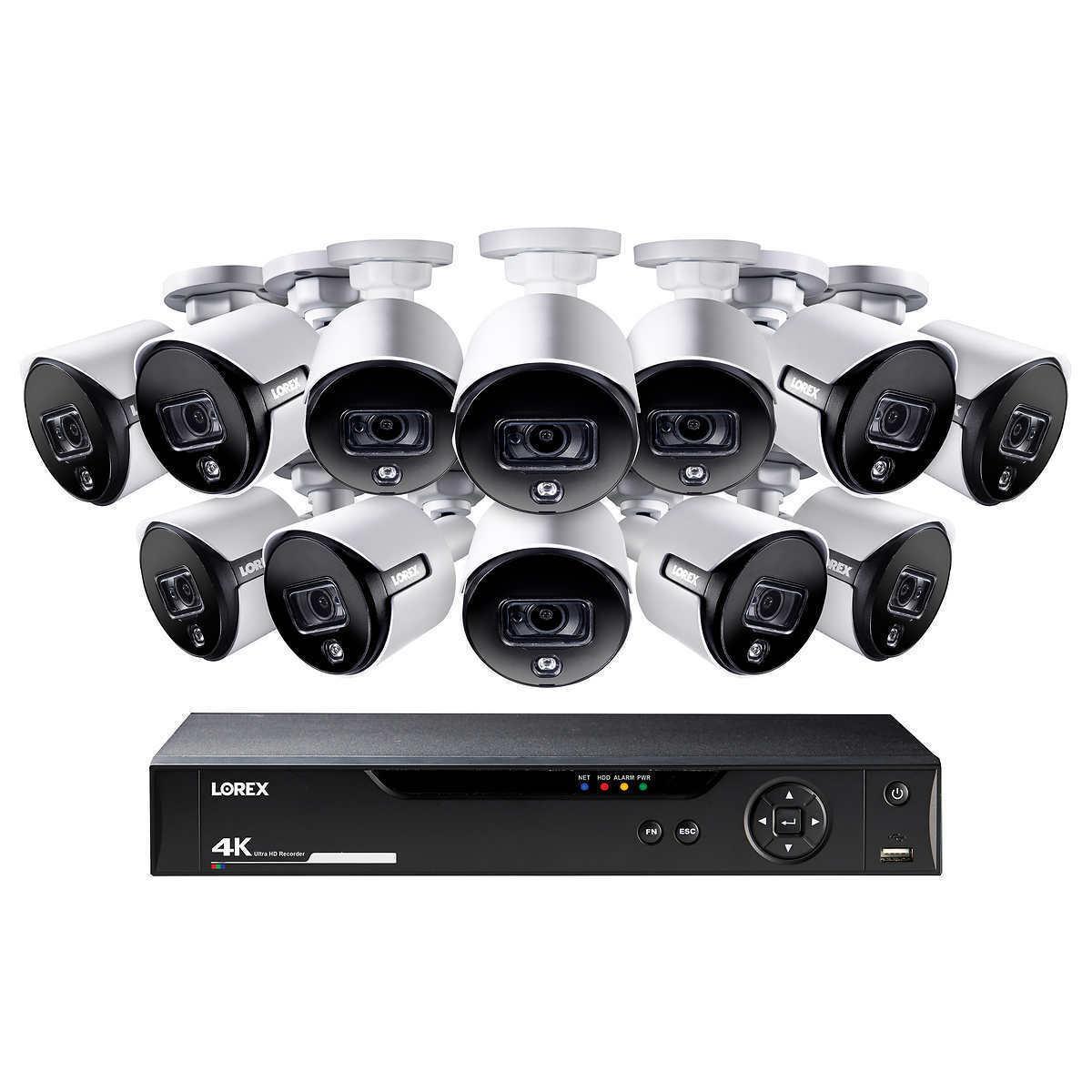 Lorex 16 Channel 4K UHD DVR Surveillance System 3TB HDD 12 4