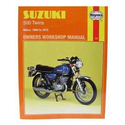 Workshop Manual Suzuki T500 68-75, GT500A 76 & possible GT500B 77-78