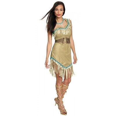 Deluxe Pocahontas Costume Disney Princess Halloween Fancy Dress