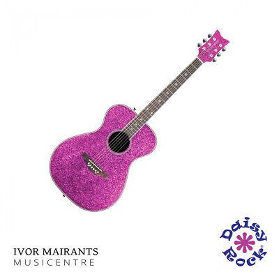 Daisy Rock Pixie Acoustic Guitar - Pink Sparkle DR6205