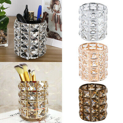 Brush Storage - Sparkling Diamond Crystal Cube Make-up Brush Holder Cosmetics Storage Bucket US