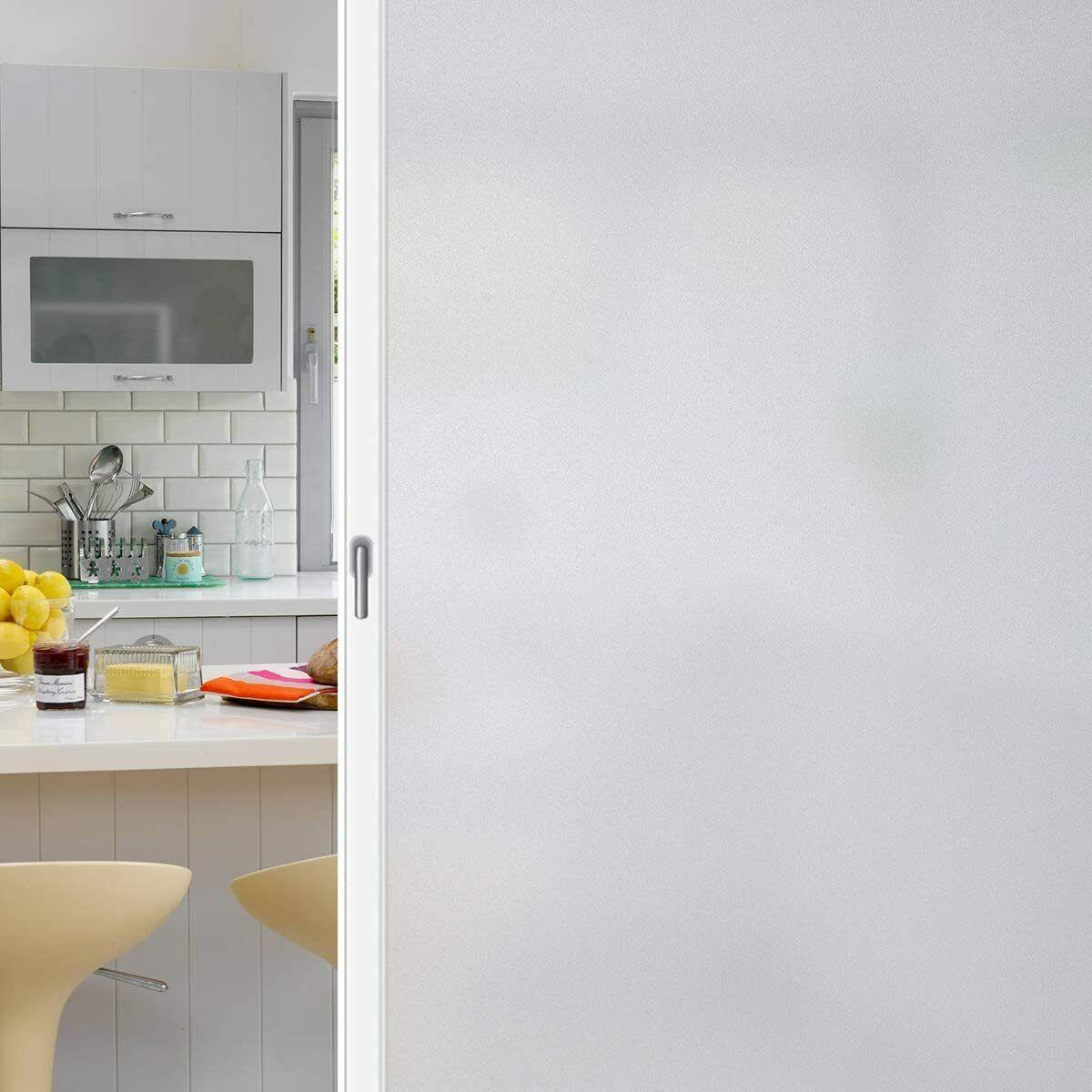 Coavas Privacy Window Non-Adhesive Glass Window Cling Anti U