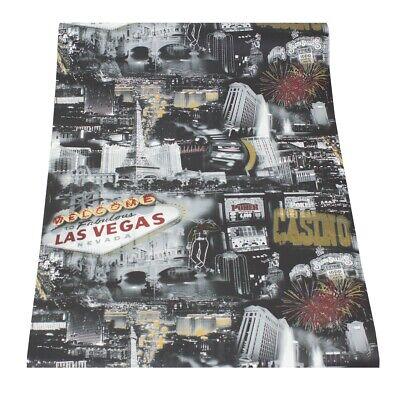 Tapete Stadt silber gold rot Las Vegas Tapeten Ideco Home 151811 (2,97€/1qm)