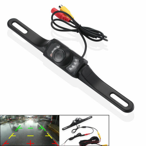 Car Backup Camera Reverse Rear View Parking Night Vision Waterproof CMOS 7 LED !