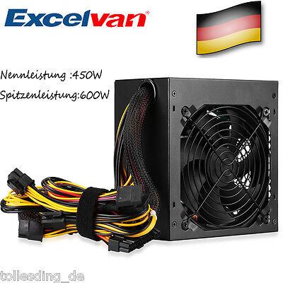 450 Watt ATX PC Computer Power Supply Netzteil for Intel-AMD SATA PCI-E SILENT