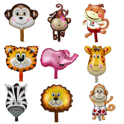 Cute Animal Head Shape Foil Balloon Zoo Birthday Wedding Party Room Decoration (Animal Shaped Balloons)
