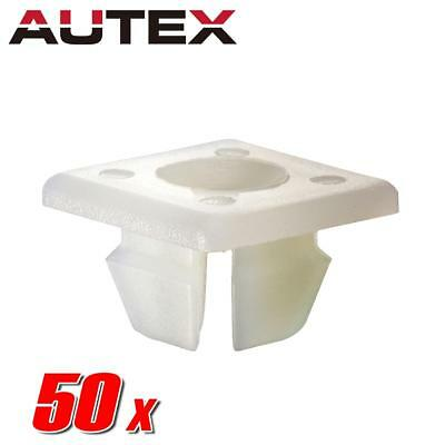 50x Nylon License Plate Clips Rivet Nut Retainer for Pontiac Bonneville Aztek