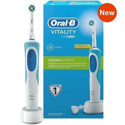 Braun Oral-B Vitality CrossAction Electric Rechargeable Power Toothbrush + Dock
