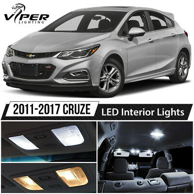 2011-2017 Chevy Cruze White LED Interior Lights Package Kit