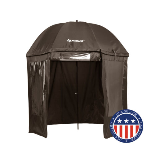 NISUS Fishing Umbrella with Zipper-up Wind Rain Shelter with Windows