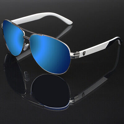 Men's Sport Aviator Sunglasses Baseball Cycling Driving Running Mirrored Glasses