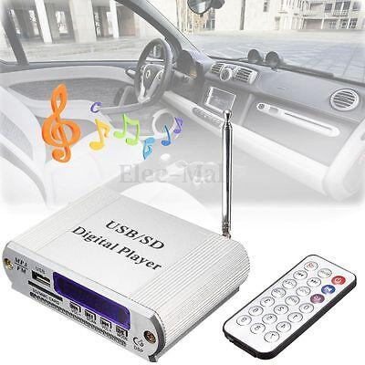 Mini MP3 USB SD Digital Player FM Radio Remote Control LED D